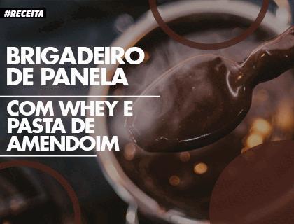 Receita: Brigadeiro de Panela com Whey e Pasta de Amendoim